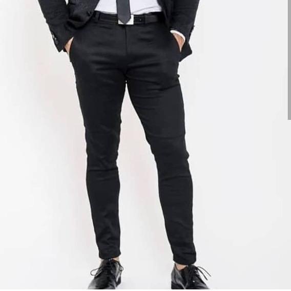 Pantalon De Vestir Chupin Elastizados Slim Fit