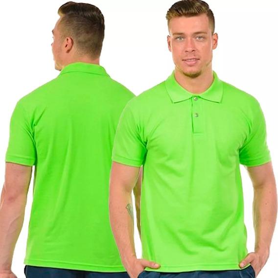 Kit 2 Camisas Pólo Masculina Gola Sortida Colorida Camiseta