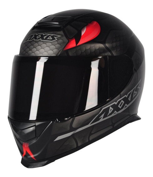 Capacete Motociclista Axxis Mt Eagle Snake - Preto Fosco