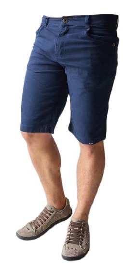 Kit 3 Bermuda Masculina Jeans Sarja Colorida Escolha Lycra