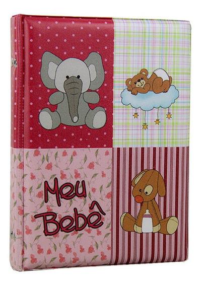 Álbum Fotográfico Diário Do Bebê 40 Fotos 15x21 Rosa - 79645