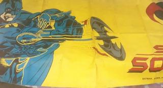 Cartel Lona Plast. Propaganda Figuritas Batman Y Robin 4x1,5