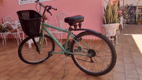 Bicicleta Verde Rodado 20 Con Canasto