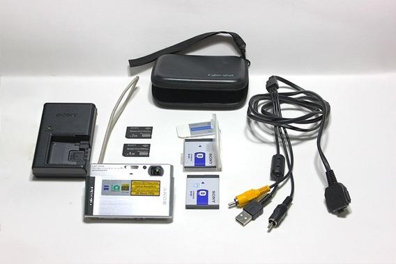 Câmera Digital Sony + 2 Baterias + 2 Cartões + Case + Cabos