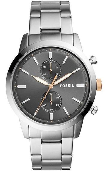 Relógio Masculino Fossil Fs5407 Analógico Prata Original