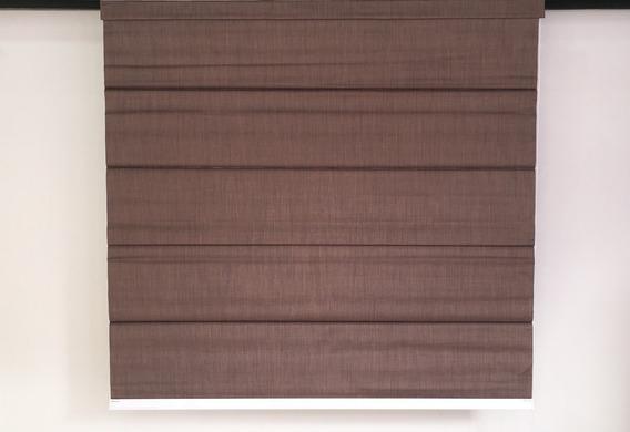 Persiana Romana Cor Marrom 1,65 X 1,10 Com Blackout