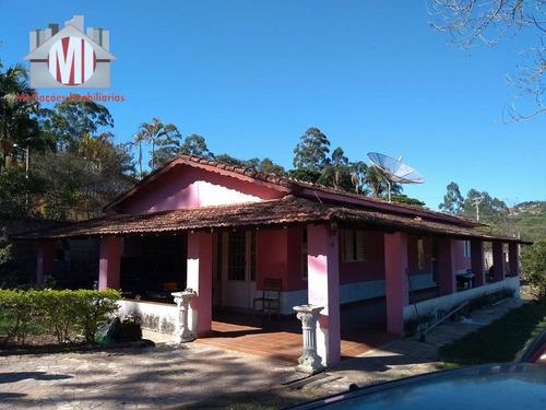 Chácara Com 03 Dormitórios À Venda, 2182 M² Por R$ 330.000 - Zona Rural - Pinhalzinho/sp - Ch0192