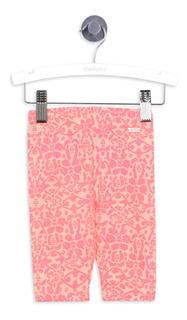 Calzas Estampada Everyday Neon Pink Niña Colloky