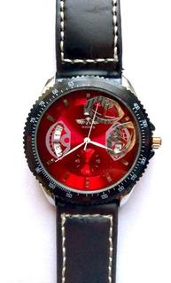 Reloj Winner Acero Inoxidable Malla Cuero