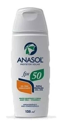 Kit 6 Protetor Solar Anasol Fps 50 Oil Free 125 Ml