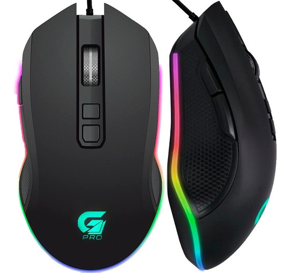 Mouse Gamer 4800dpi 7 Botões Macro Rgb Usb Pc Notebook Note