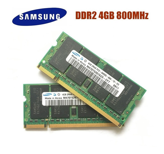 Memória Ddr2 Notebook 1x 4gb Hynix Pc2-6400 800mhz 667 M.8