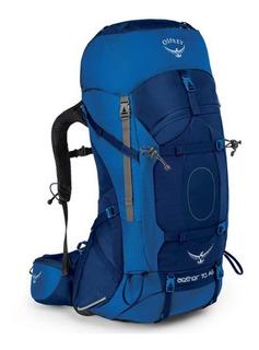 Mochila Cargueira Osprey Aether Ag 70l Tam P Azul Daypack
