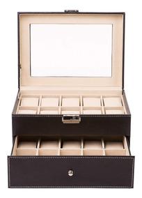 Porta Relojes 20 Unidades Caja De Lujo Hombre Mujer Damas