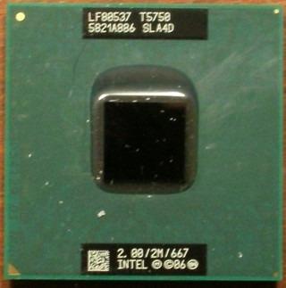 Processador Intel Core 2 Duo T5750 2.0ghz 2mb Cache Socket P
