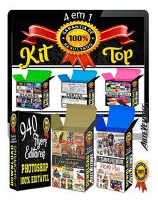 Pack 4 Em 1 De Artes Gráfica Completa + De 2 Milhões Vetores