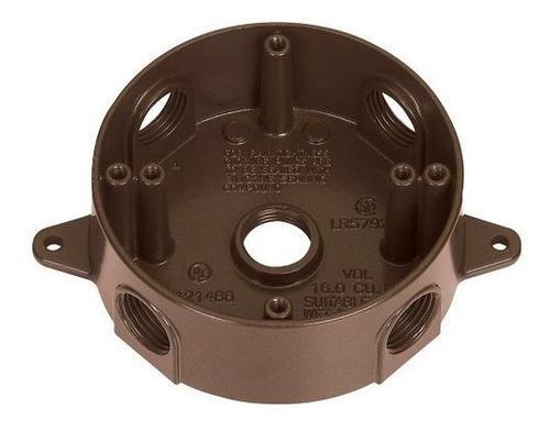 Sigma Electric 14385475br 34inch 5 Orificios Caja Redonda Br