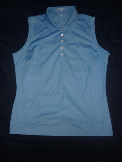 L Chomba Dama Golf Nike Dri Fit Azul Talle Xl Art 95817