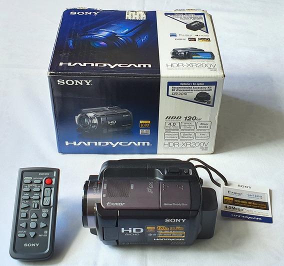 Filmadora Sony Hdr-xr200v Zoom 15x Com 120gb 12x S/juros