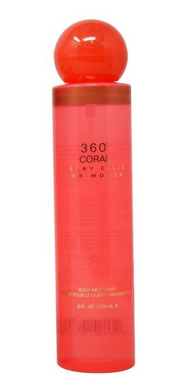 360° Coral 236 Ml Body Mist Spray De Perry Ellis