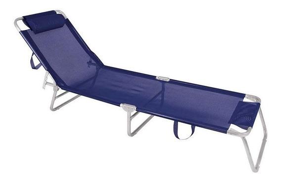 Cadeira Espreguiçadeira Alumínio Mor Azul Marinho - Mor