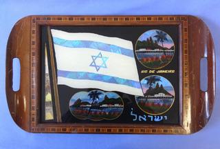 Bandeja Rio De Janeiro Com Bandeira De Israel - Marchetada