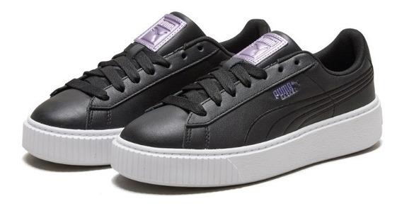 Tênis Puma Hianna Couro Black Shoes Importado