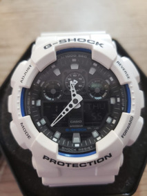 Relógio Casio G-shock Masculino Ga-100b-7a Branco