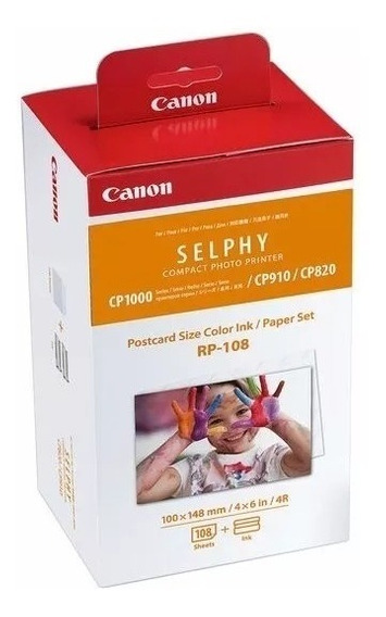 Kit Papel Fotográfico P/ Impressora Canon Selphy Rp-108