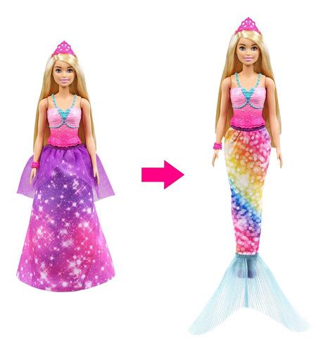 Imagen 1 de 6 de Barbie Dreamtopia, Princesa 2 En 1