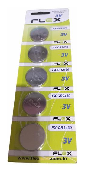 Kit 10 Pilhas Alcalina Botão Cr2430 Flex
