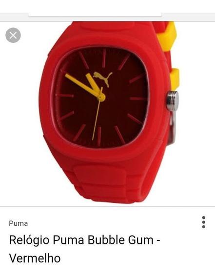 Relógio Puma Bubble Gum Novo Raridade (leia A Descrição!)
