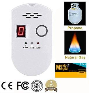 Detector De Gas Natural, Detector De Propano, Alarma De Gas.