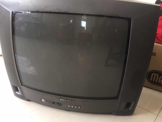 Tv Philips 21 Pulgadas C/control Remoto (reparar O Repuesto)