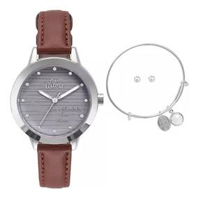Relógio Feminino Allora Analógico Al2036flw/k2c Prata/marrom