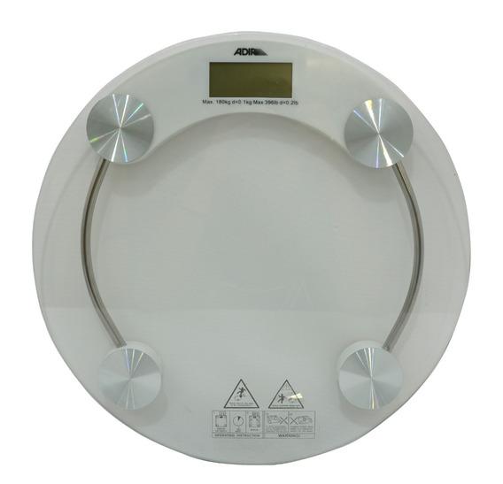 Bascula 180 Kg Digital Para El Cuerpo Redonda 33 Cm Diametro