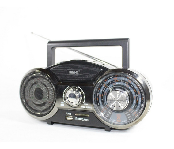 Micro System Radio Am Fm Card Reader Usb Bateria Rec Nfe