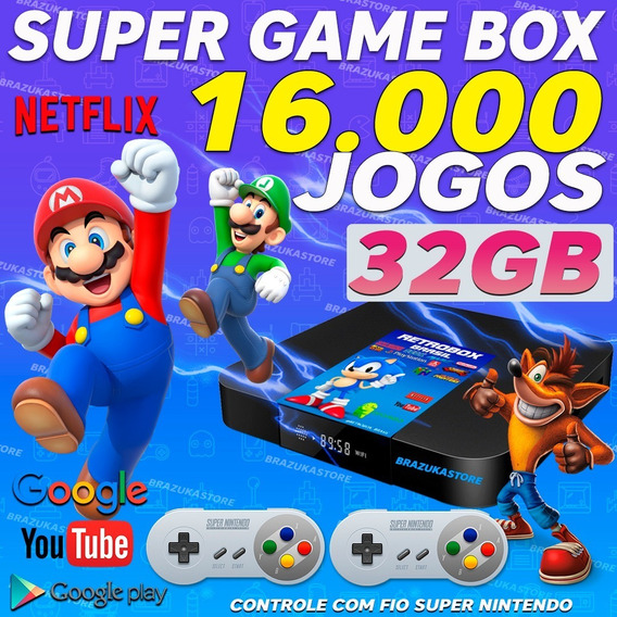 Retro Box - Video Game Retro Com 16.000 Jogos Antigos 32gb