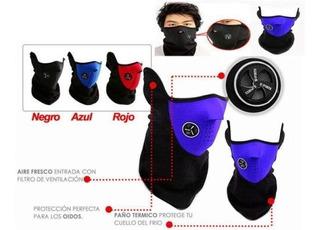 Máscara Protectora Neoprén Polar Ciclismo Moto