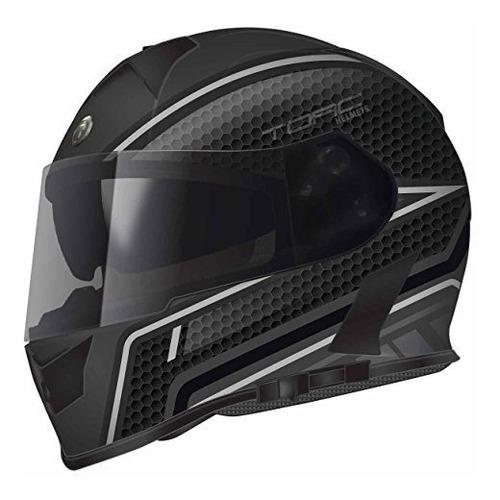 Casco De Motociclismo Torc T14b Cara Completa Color Negro