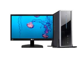 Pc Basico Intel Dual Core 4gb 120ssd Monitor19,5 Perifericos