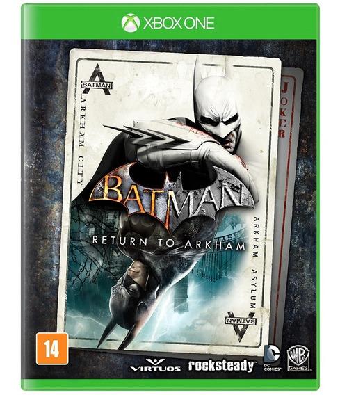 Jogo Novo Midia Fisica Batman Return To Arkham Para Xbox One