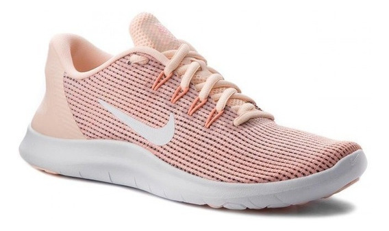 Tênis Nike Flex 2018 Rn Salmão/laranja Original Corrida