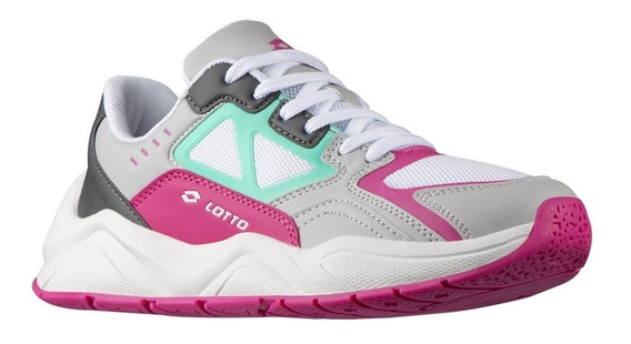Tenis Dama Sneaker Lotto Memory Foam Ligeros Tejido Mesh