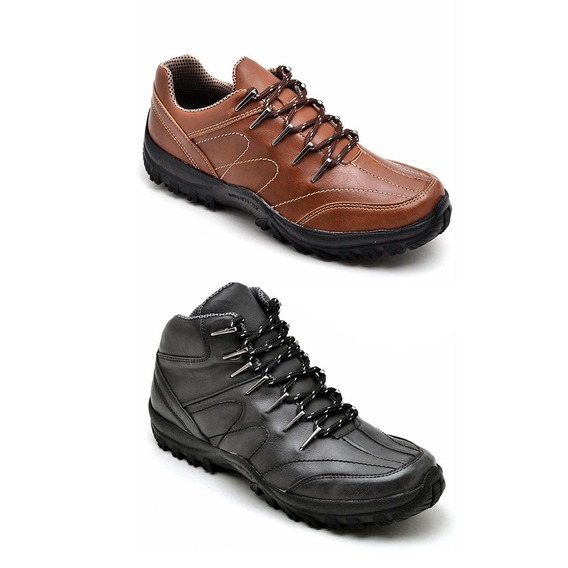 Bota Adventure Masculina Sintetica Dex Kit 2 Pares
