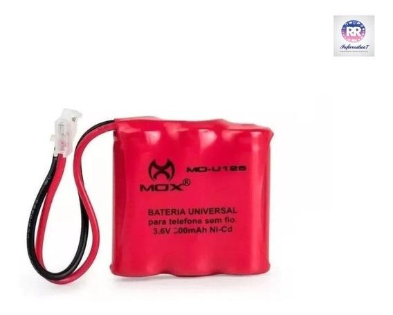 Bateria Telefone Sem Fio Mox U125 3.6v 300mah