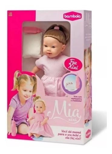 Boneca Bebezão Baby Faz Xixi De Verdade C/ Fralda Mamadeira