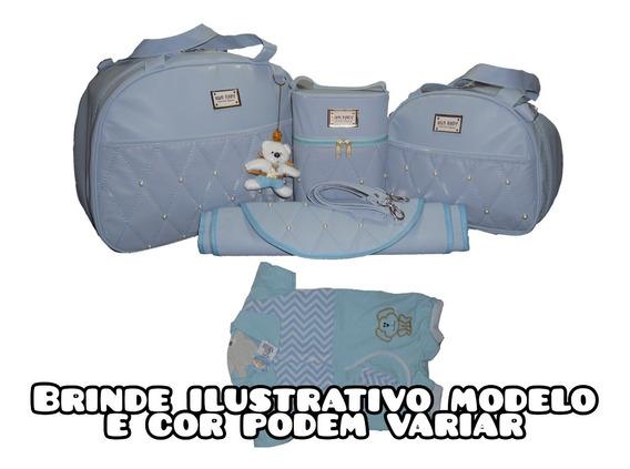 Brinde + Kit Bolsa Bebe Mala Saída Maternidade Menina Menino