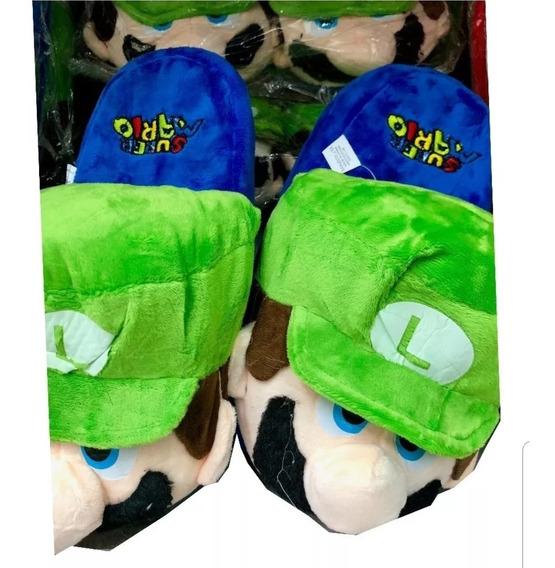 Pantuflas Niños Luigi Mario Bross Nintendo