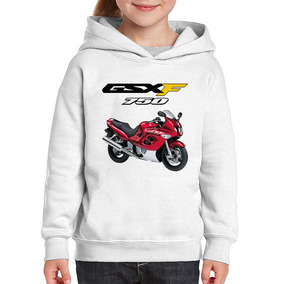 Moletom Infantil Moto Suzuki Gsx 750 F Katana Vermelha